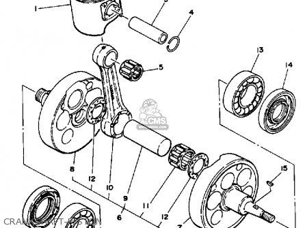 Yamaha Yz490 Competition 1989 (k) Usa parts list