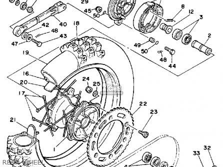 Yamaha Yz490 Competition 1990 (l) Usa parts list