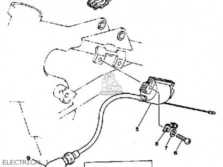 Yamaha Yz490j Competition 1982 parts list partsmanual