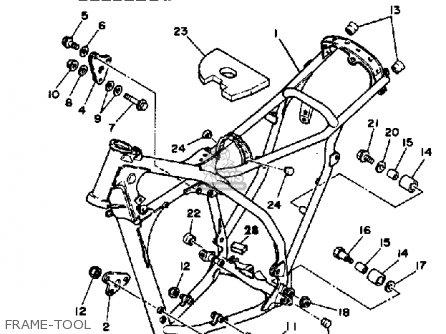 Yamaha Yz490k Competition 1983 parts list partsmanual