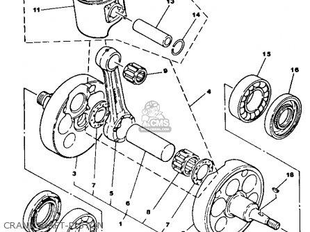 Yamaha Yz490n Competition 1985 parts list partsmanual