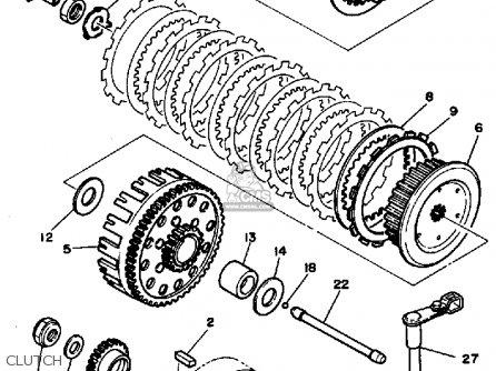 Yamaha Yz490s Competition 1986 parts list partsmanual
