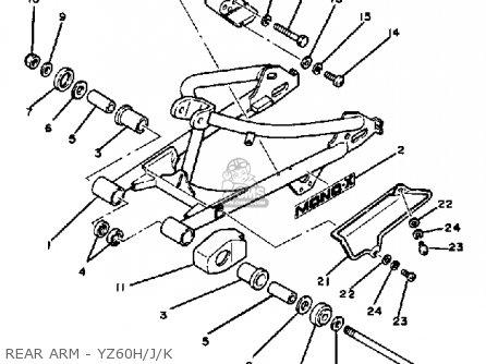Yamaha YZ60 COMPETITION 1981 (B) USA parts lists and