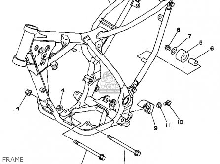 Yamaha YZ80-1 1994 (R) USA parts lists and schematics