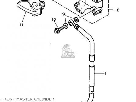 Yamaha YZ80-1 1994 (R) USA parts lists and schematics