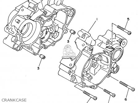 Yamaha Yz80-1 1995 (s) Usa parts list partsmanual partsfiche