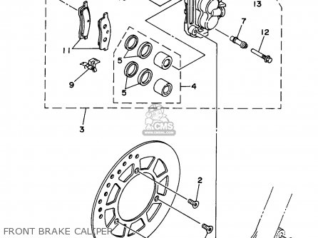Yamaha Yz80-1 1998 (w) Usa parts list partsmanual partsfiche