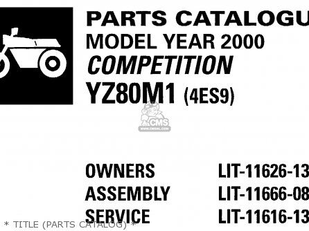 Yamaha YZ80-1 COMPETITION 2000 (Y) USA parts lists and