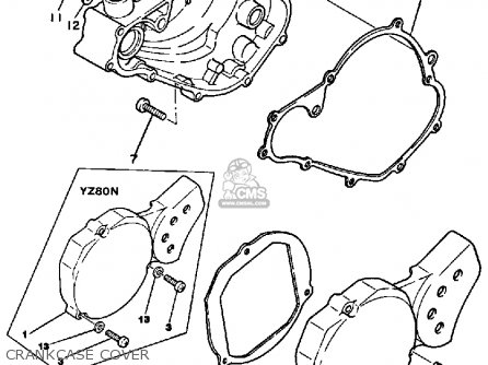 Yamaha YZ80 1985 (F) USA parts lists and schematics
