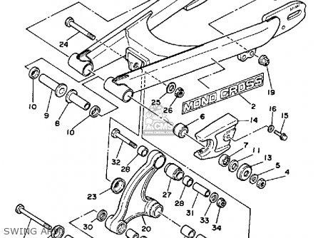 Yamaha Yz80 1985 (f) Usa parts list partsmanual partsfiche