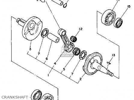 Yamaha YZ80 1987 (H) USA parts lists and schematics