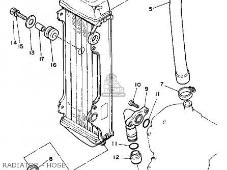 Yamaha Yz80 1987 (h) Usa parts list partsmanual partsfiche