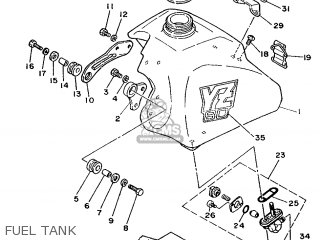 Yamaha YZ80 1988 2VF EUROPE 282VF-300E1 parts lists and