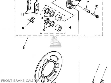 Yamaha YZ80 1989 (K) USA parts lists and schematics