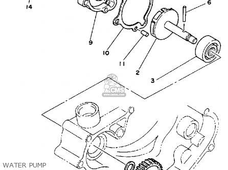 Yamaha Yz80 1989 (k) Usa parts list partsmanual partsfiche