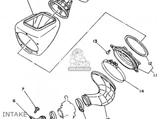 Yamaha YZ80 1994 4GT4 JAPAN 244GT-300E1 parts lists and