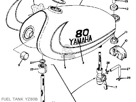 Yamaha YZ80 COMPETITION 1975 USA parts lists and schematics