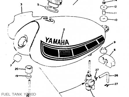 Yamaha Yz80 Competition 1977 Usa parts list partsmanual