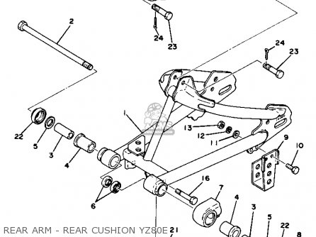 Yamaha YZ80 COMPETITION 1978 USA parts lists and schematics