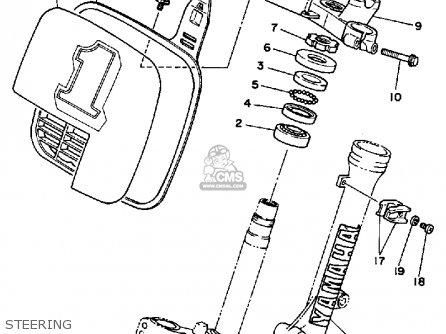 Yamaha Yz80 Competition 1986 (g) Usa parts list partsmanual partsfiche