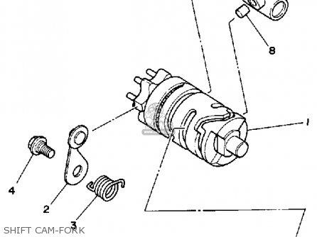 Yamaha YZ80 COMPETITION 1988 (J) USA parts lists and