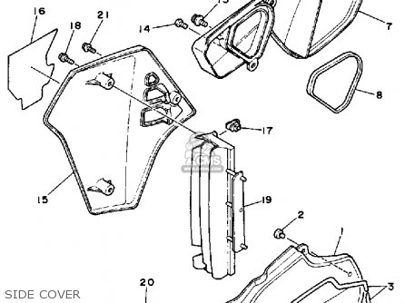 Yamaha Yz80 Competition 1988 (j) Usa parts list