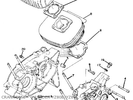 Yamaha Yz80b Competition 1974-1976 parts list partsmanual