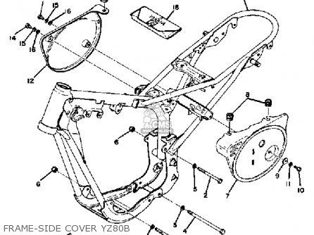 Yamaha Yz80b Competition 1974-1976 parts list partsmanual