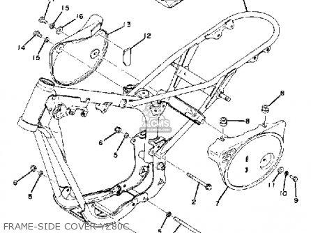 Yamaha Yz80c Competition 1974-1976 parts list partsmanual