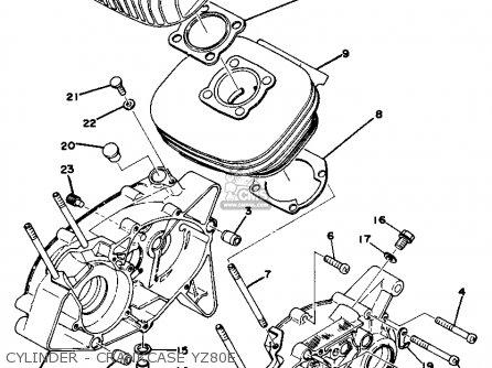 Yamaha Yz80d Competition 1977-1979 parts list partsmanual