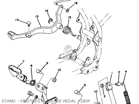 Yamaha Yz80d Competition 1977-1979 parts list partsmanual