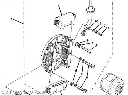 Yamaha Yz80e Competition 1977-1979 parts list partsmanual