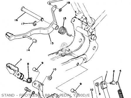 Yamaha Yz80e Competition 1977-1979 parts list partsmanual