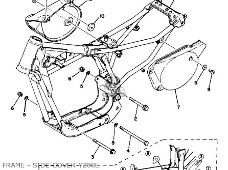 Yamaha Yz80f Competition 1977-1979 parts list partsmanual
