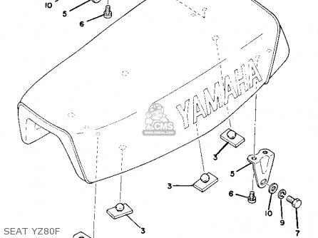Yamaha Yz80f Competition 1977-1979 parts list partsmanual
