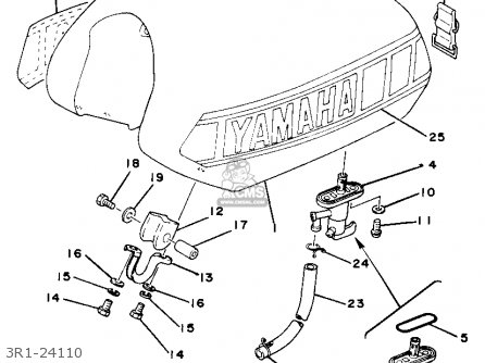 Yamaha Yz80g Competition 1980-1982 parts list partsmanual