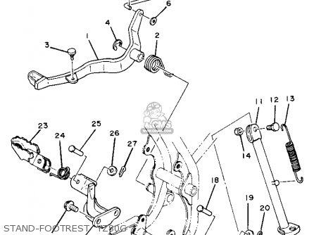 Yamaha Yz80g Competition 1980-1982 parts list partsmanual