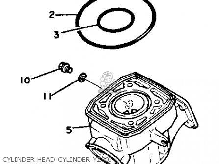 Yamaha Yz80j Competition 1980-1982 parts list partsmanual
