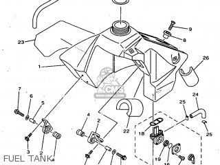 Yamaha YZ80K 1998 4ES7 ENGLAND 284ES-100E1 parts lists and