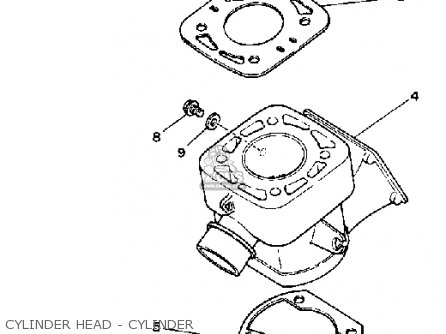 Yamaha Yz80k Competition 1983 parts list partsmanual