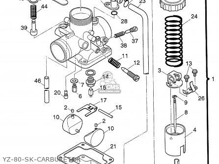 Yamaha Yz80k-sk Yz125k-sk Racekart 1998 (w) Usa parts list