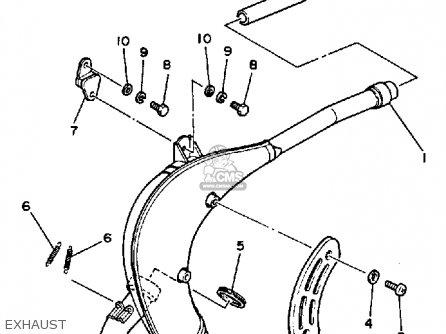 Yamaha Yz80l 1984/1985 parts list partsmanual partsfiche