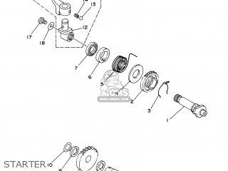 Yamaha YZ80LW 2000 4LBE JAPAN 104ES-100E1 parts lists and