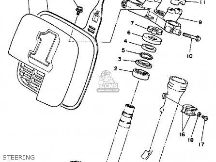 Yamaha Yz80n 1984/1985 parts list partsmanual partsfiche