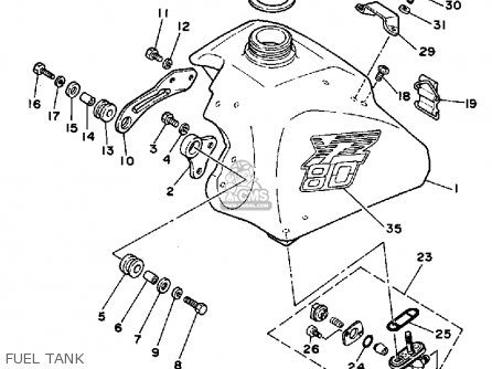 Yamaha Yz80s Competition 1986 parts list partsmanual