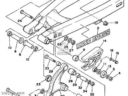 Yamaha Yz80s Competition 1986 parts list partsmanual