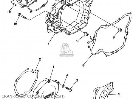 Yamaha Yz80sk 1996 (t) Usa parts list partsmanual partsfiche