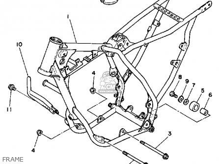 Yamaha Yz80t 1987 parts list partsmanual partsfiche