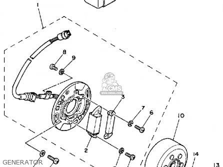 Yamaha Yz80u Competition 1988 parts list partsmanual
