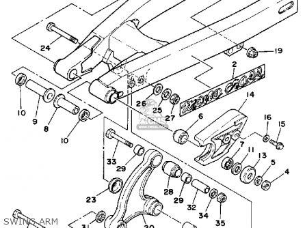 Yamaha Yz80w 1989 parts list partsmanual partsfiche